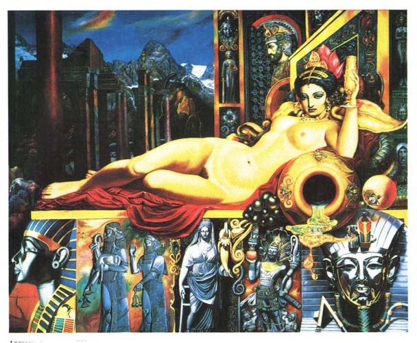 Картина «Аллегория искусства» художника Александра Исачева.