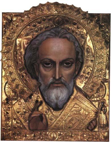 Картина «Икона Святой Николай» художника Александра Исачева.