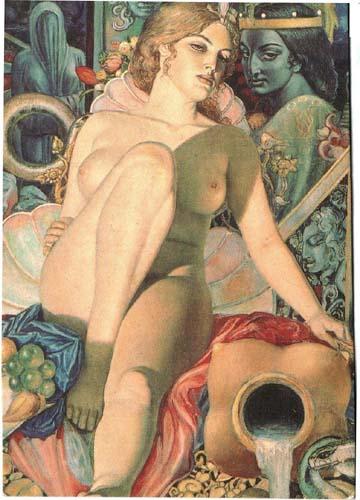 Картина «У источника» художника Александра Исачева.
